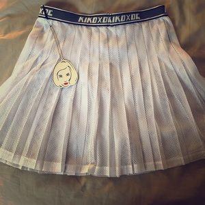 See through mesh Opening ceremony skirt